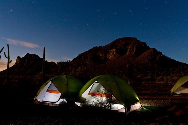 Summer camping at Picacho Peak State Park