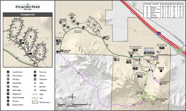 Picacho Peak Trail Map