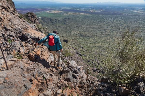 Picacho Peak trails in the Sonoran Desert