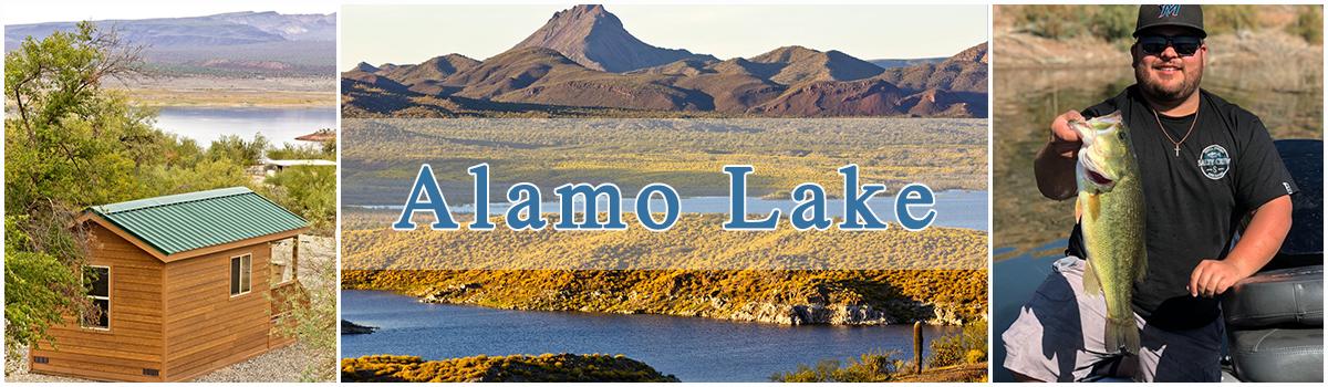 Alamo Lake Cabins, scenery, bass fishing
