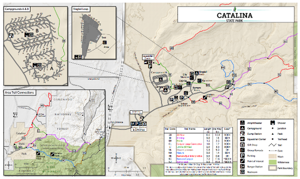Click to download- Catalina State Park, Tucson, AZ Map