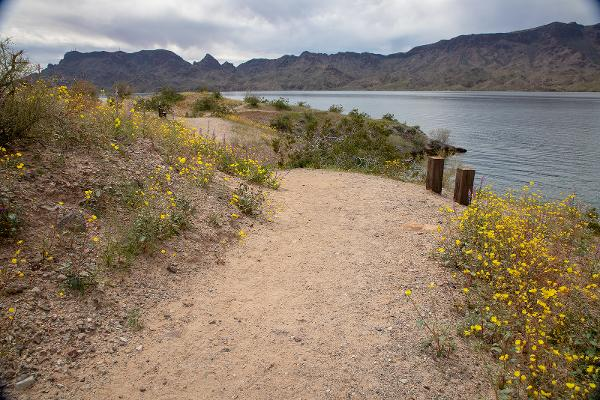 Hiking trails along the Colorado River