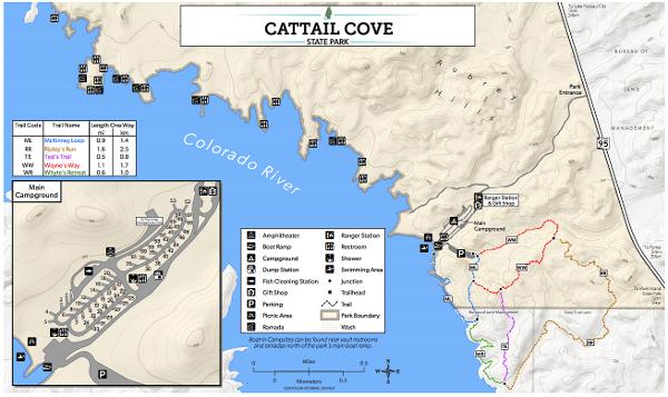 Cattail Cove Map- Lake Havasu, AZ