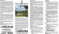 Dead Horse Ranch Park Map