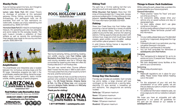 Download the Map and information packet before your trip.
