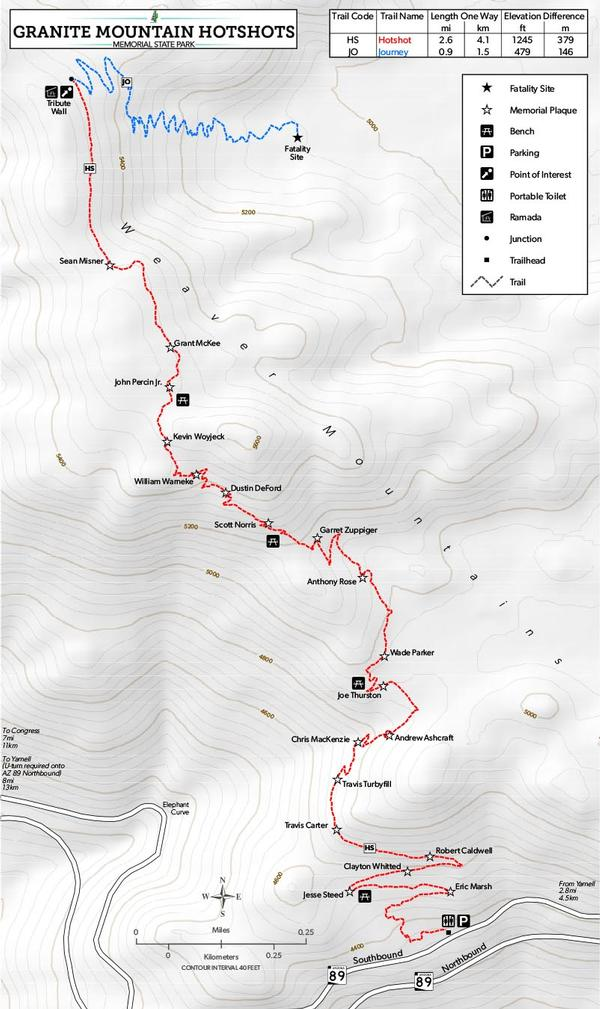 Trail Map Granite Mountain Hotshots Memorial State Park