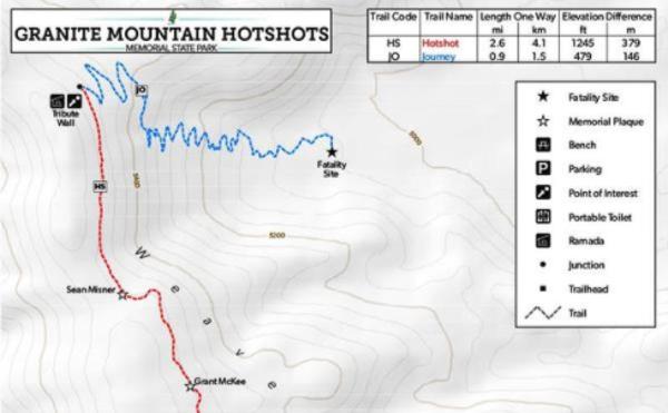 Download Granite Mountain Hotshots Trail Map