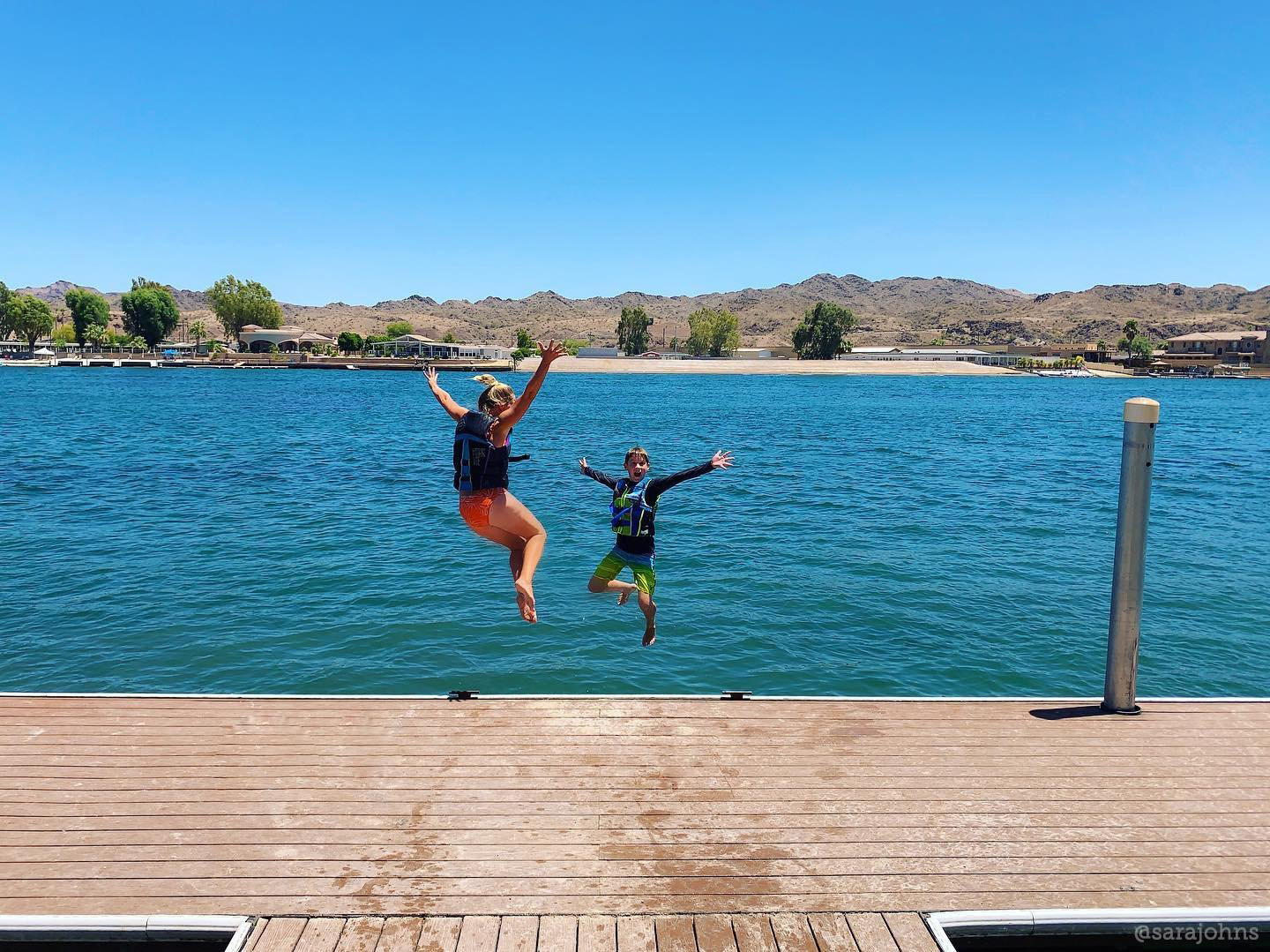 Jump into adventure at an Arizona lake!