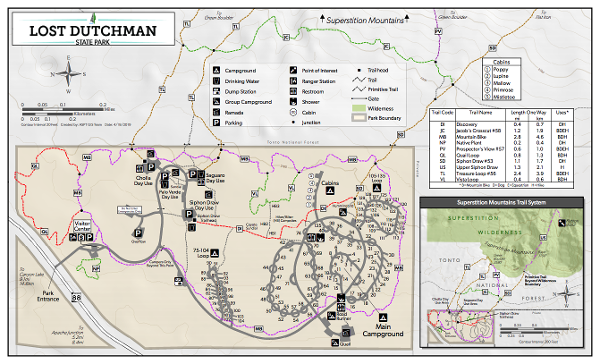 Lost Dutchman State Park Maps