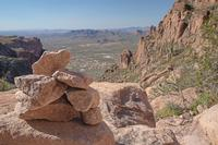 The view from the top of the Flatiron trail in Lost Dutchman State Park