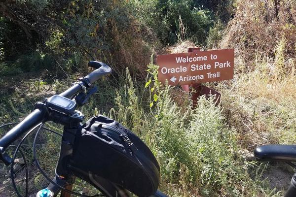 Bike on Oracle State Park Mountain bike trails