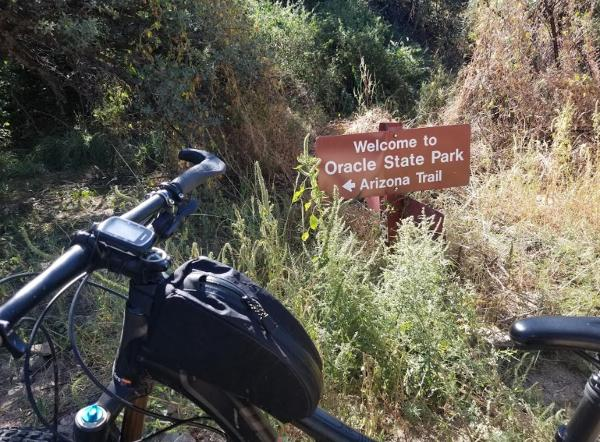 Mountain bike trails at Oracle State Park