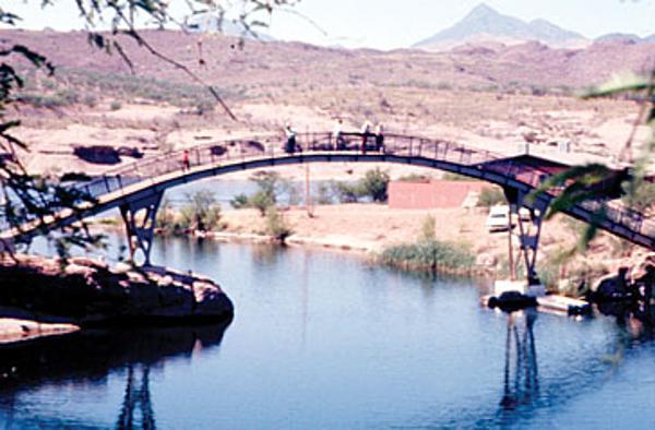 Foot bridge in 1975