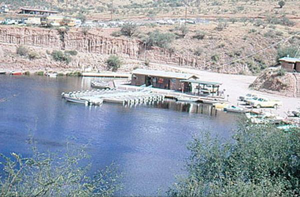 Store and boat docks in 1974