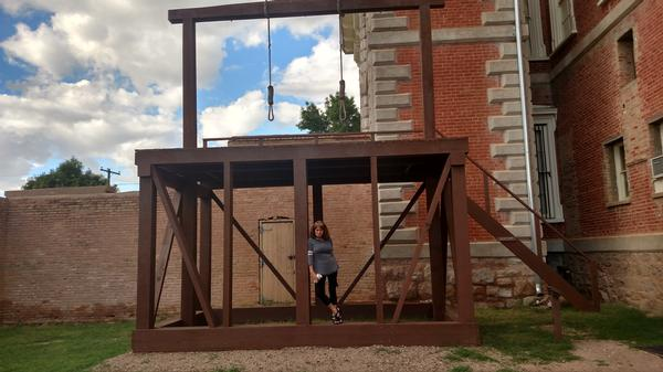 the gallows outside Tombstone Courthouse State Historic Park