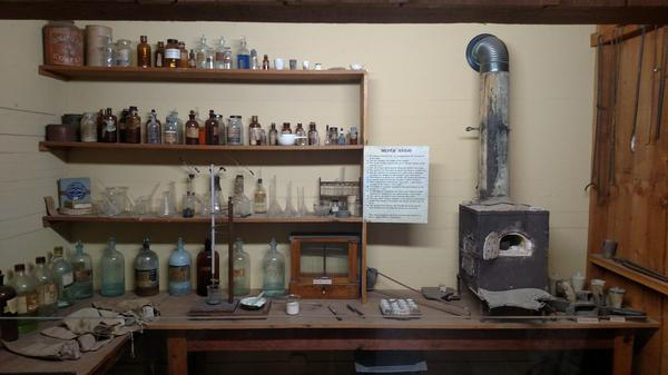 An exhibit from the assayer at Tombstone Courthouse State Historic Park