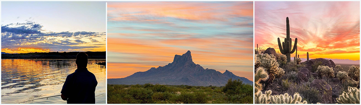 Arizona sunsets at Alamo Lake, Picacho Peak, and Catalina state parks