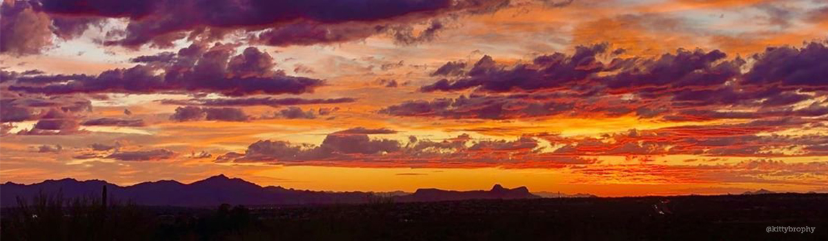 Arizona sunsets are a gift of beautiful colors