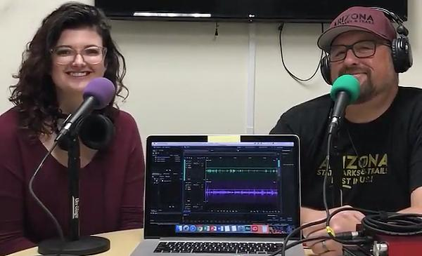 Neil Large and Randee Gleason hosts of the Arizona State Parks and Trails podcast