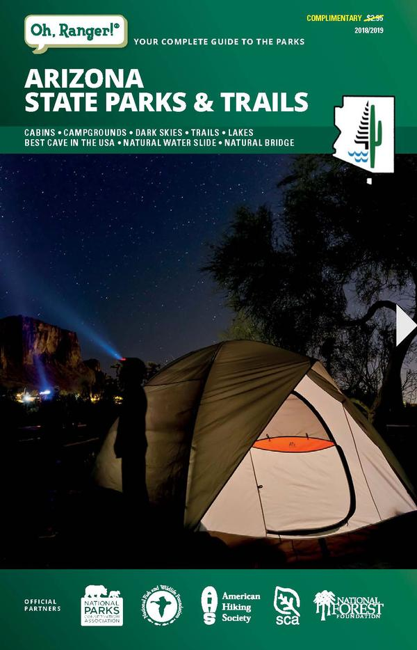 Cover image of the 2018-19 Green Guide from Arizona State Parks and Trails