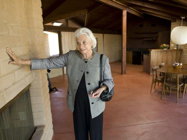 Justice Sandra Day O'Connor in her home.
