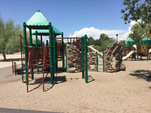 Playground funded by Arizona State Parks and Trails grant money