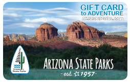 Arizona State Parks Gift Cards can be used at locations across the state.