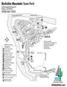 Buckskin Mountain Park Map