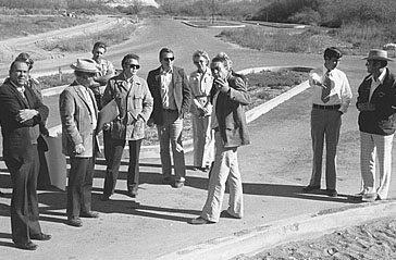 The Parks Board toured the grounds in 1976