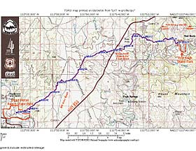 Red Rock State Park Lime Kiln Trail Map