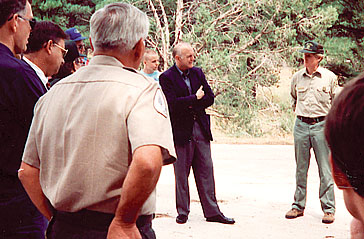 Senator Dennis DeConcini visited the area in 1992