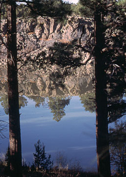 A 1993 view of the lake
