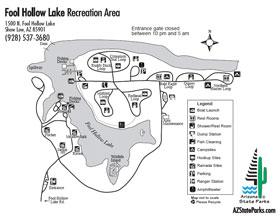 Fool Hollow Lake Park Map