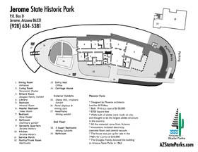 Map Of Arizona Including Jerome.Arizona State Parks Jerome Maps