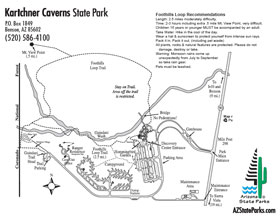 Kartchner Caverns Park Map
