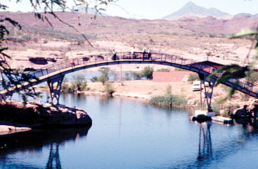 Foot bridge in 1975