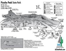 Picacho Peak Park Map