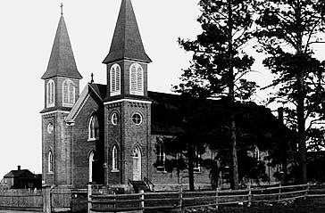 Church of the Nativity, the first Catholic Church in Flagstaff.