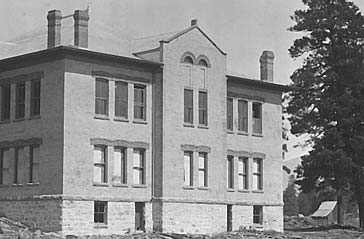 Emerson School nearly completed, 1895. Photo courtesy of Cline Library, NAU.