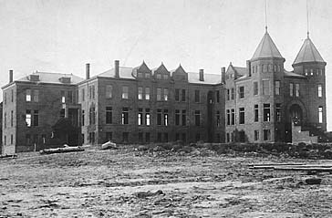 Northern Arizona Normal School, under construction, 1898. Photo courtesy of Cline Library, NAU.
