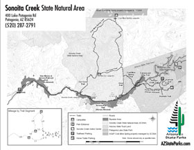 Sonoita Creek Park Map