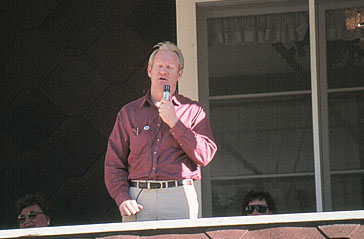 Governor Fife Symington at the park in 1991