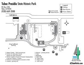 Tubac Presidio Park Map
