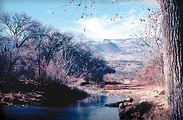 View toward Jerome from the river in 1986
