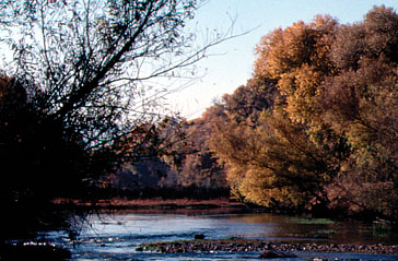 Early Fall on the river in 1986