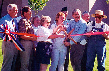 Ribbon-cutting at the re-opening in 1997.
