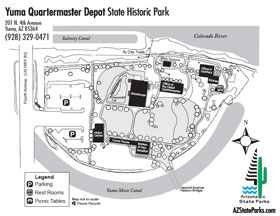 Yuma Quartermaster Depot Park Map