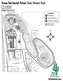 Yuma Territorial Prison Park Map