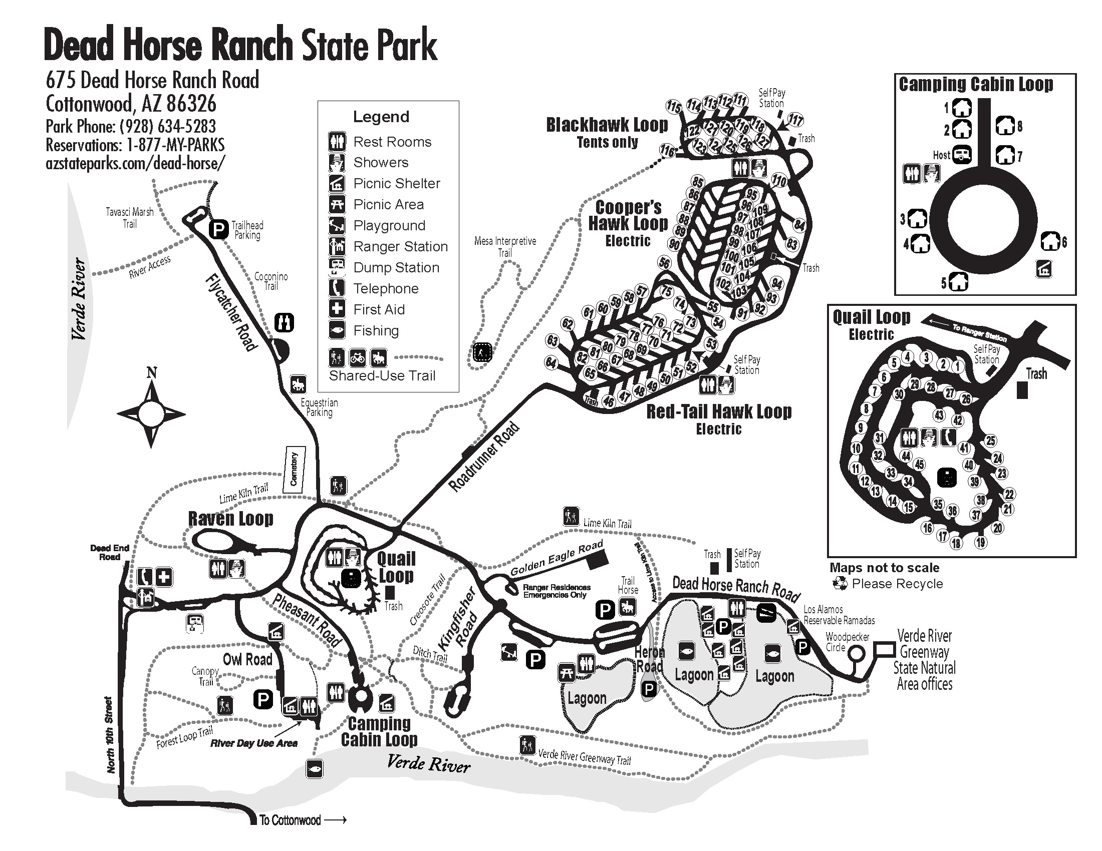 Dead Horse Ranch Park Map