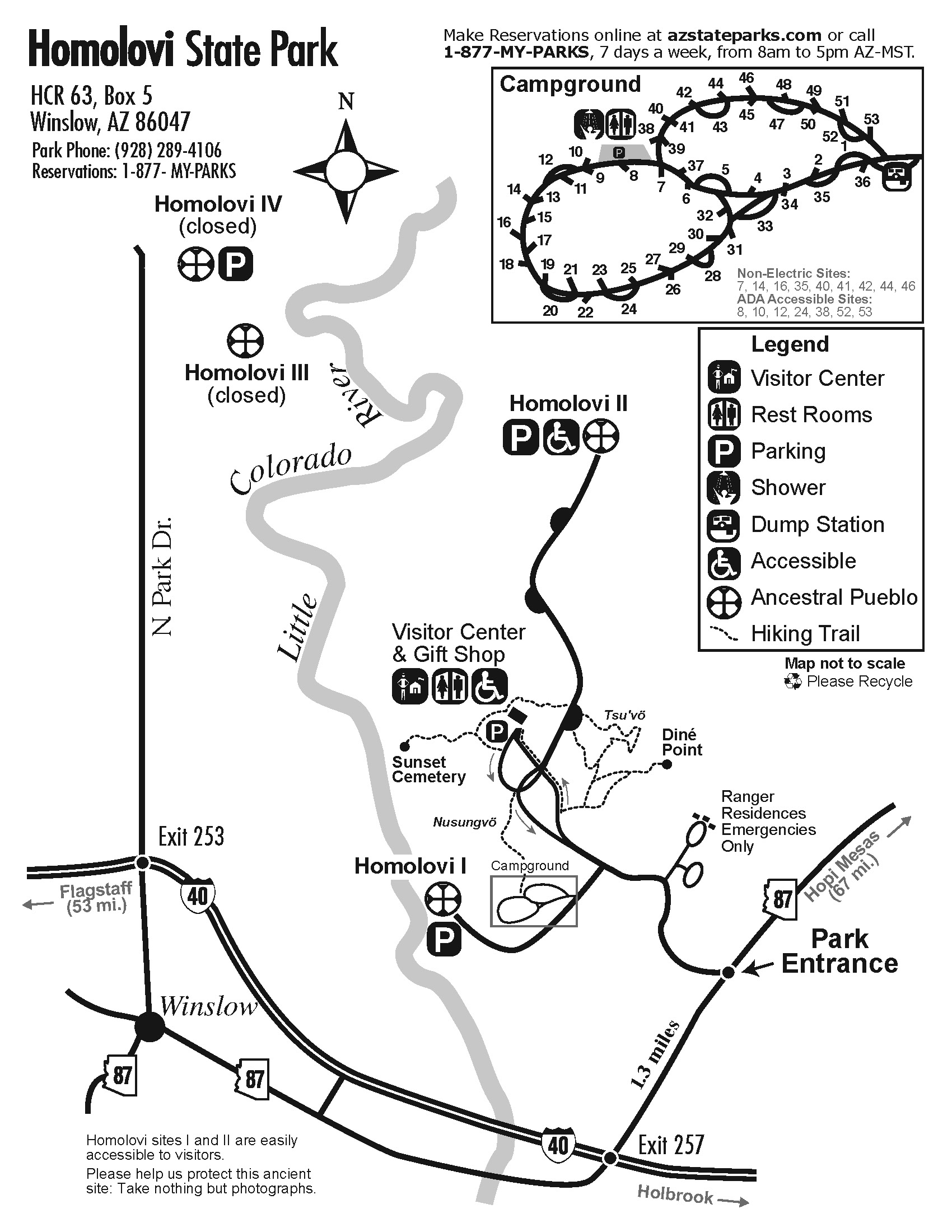 Homolovi Park Map